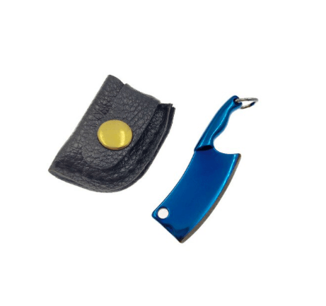 The Hash Grinder Company® - EX® blade in sleeve - G-Rasp line - Mini blade for Hash and Weed - in blue colored steel