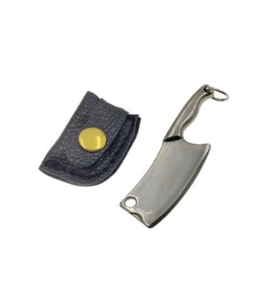 The Hash Grinder Company® - EX® blade in sleeve - G-Rasp line - Mini blade for Hash and Weed - in dark gray colored steel