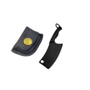The Hash Grinder Company® - EX® mesje in hoes - G-Rasp line - Mini mesje voor Hash en Wiet - in mat zwart gekleurd staal