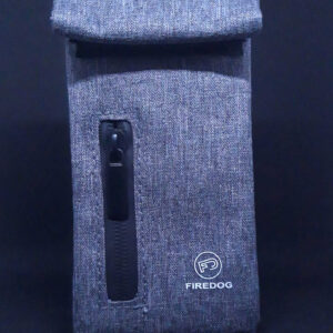 Hashgrinder.com - FIREDOG® - Smell proof pouch bag - carbon - gray colored