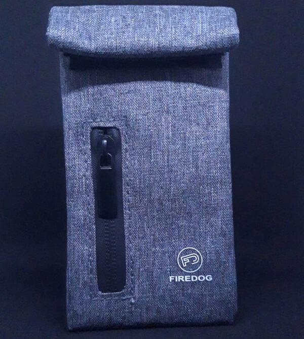 Hashgrinder.com - FIREDOG® - Geruchsdichte Beuteltasche - Carbon - grau gefärbt